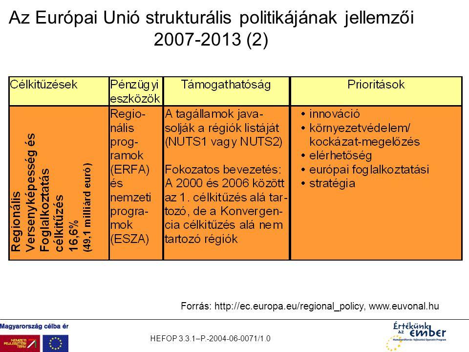 Az Európai Unió strukturális politikájának jellemzői 2007-2013 (2)
