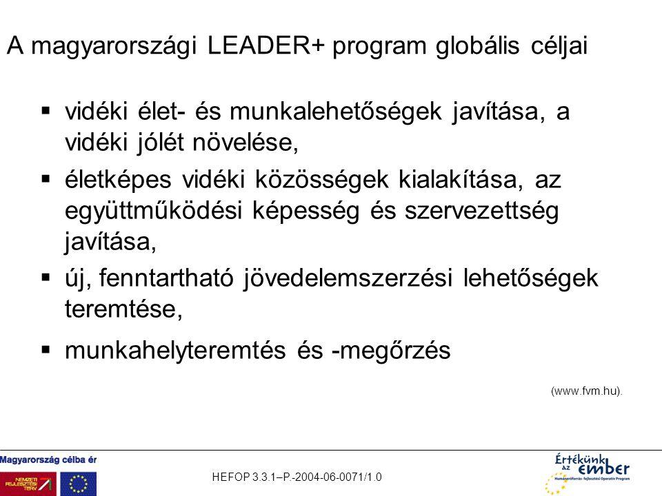 A magyarországi LEADER+ program globális céljai
