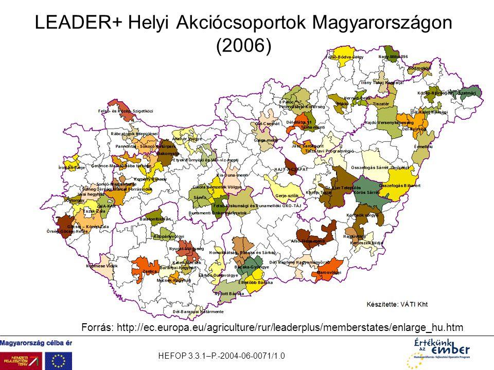LEADER+ Helyi Akciócsoportok Magyarországon (2006)