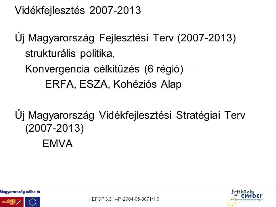 Új Magyarország Fejlesztési Terv (2007-2013) strukturális politika,