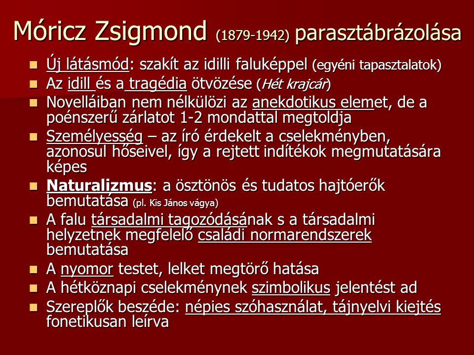 Móricz Zsigmond (1879-1942) parasztábrázolása