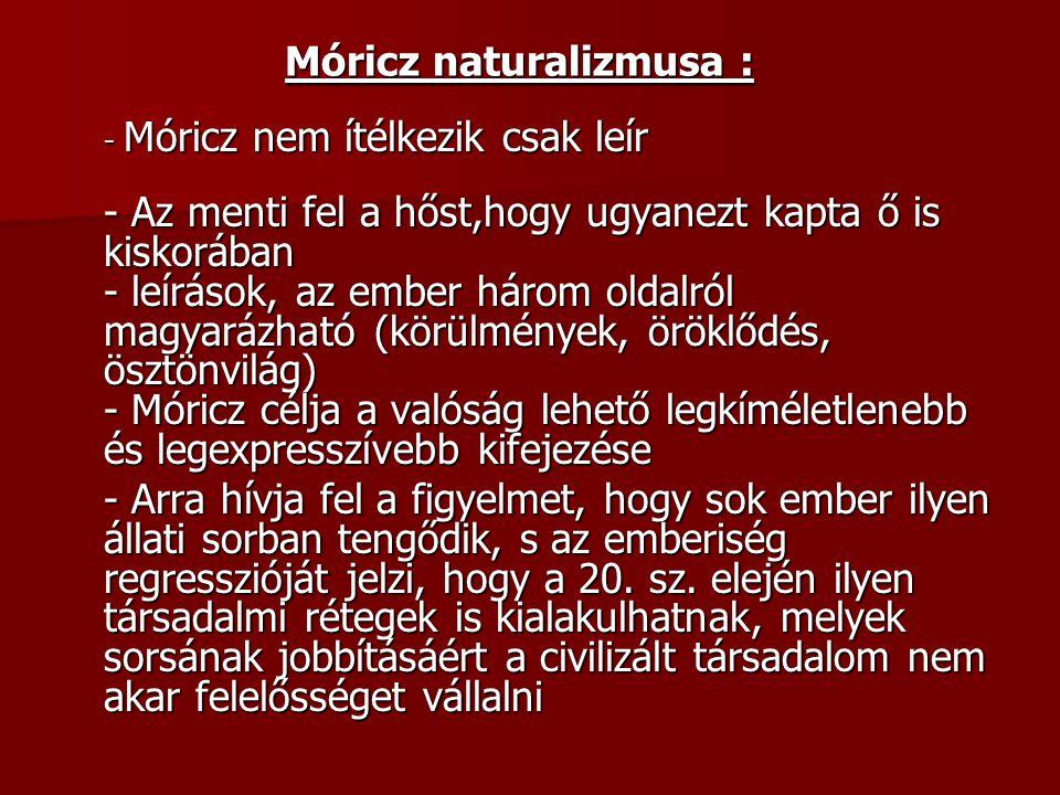 Móricz naturalizmusa :
