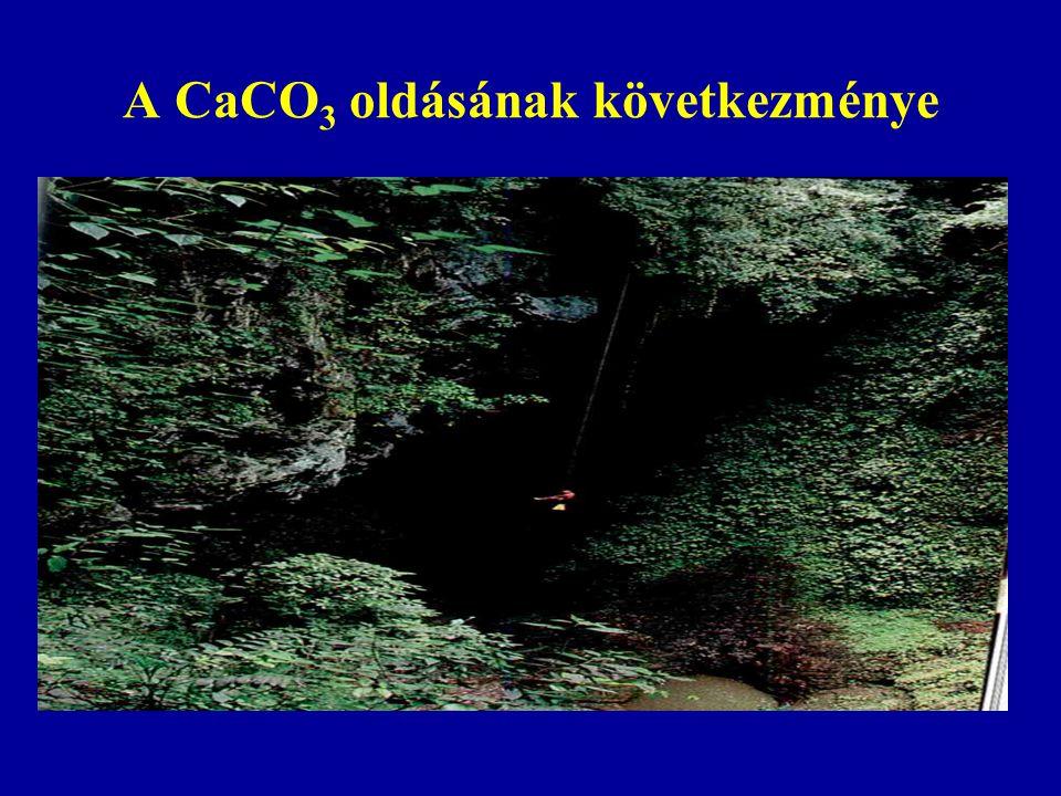 A CaCO3 oldásának következménye