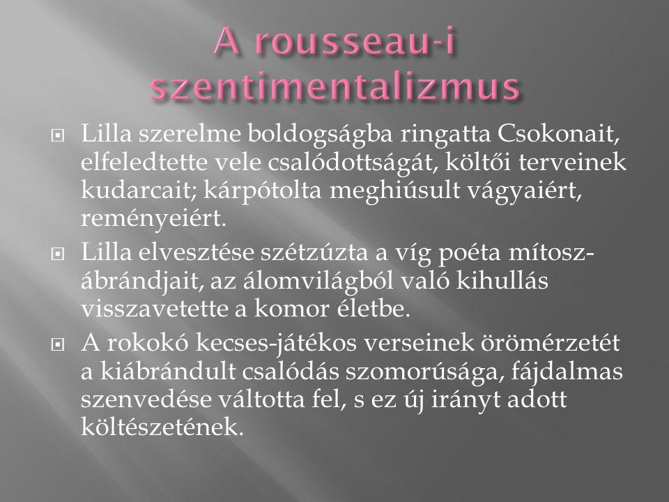 A rousseau-i szentimentalizmus