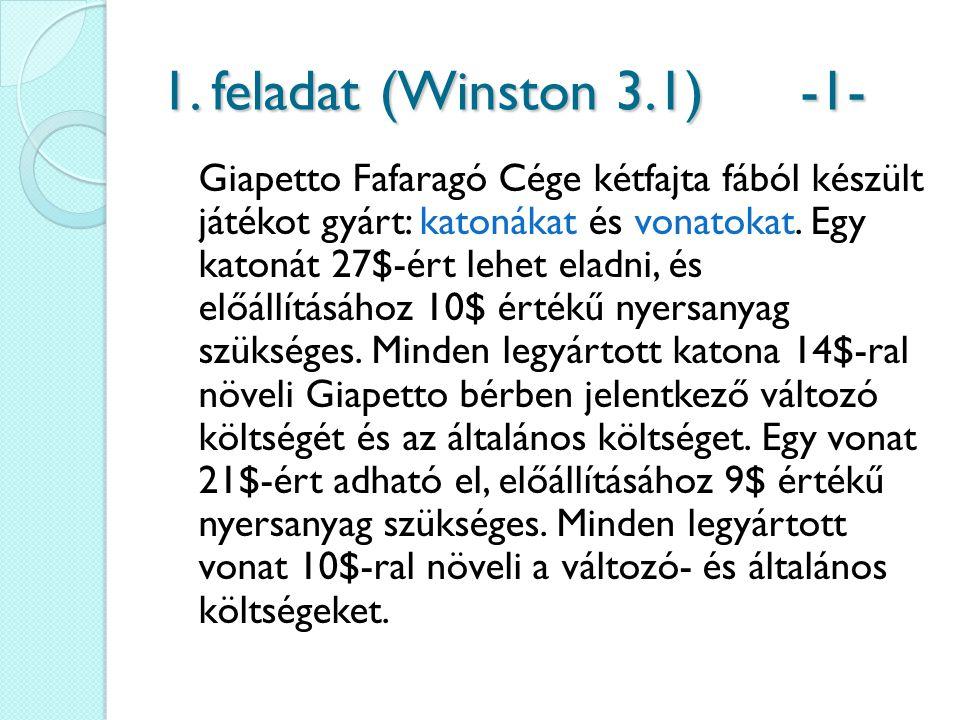 1. feladat (Winston 3.1) -1-