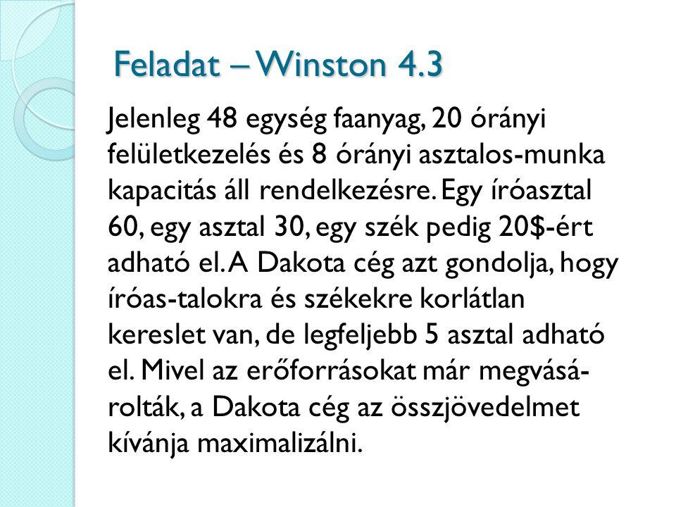 Feladat – Winston 4.3
