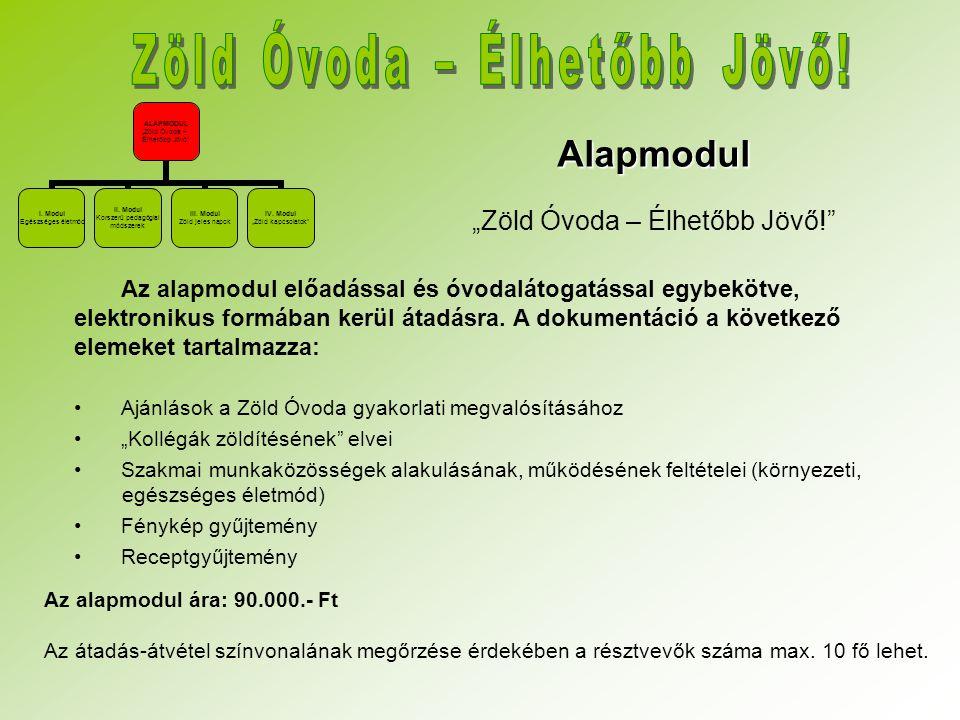 """Alapmodul """"Zöld Óvoda – Élhetőbb Jövő!"""