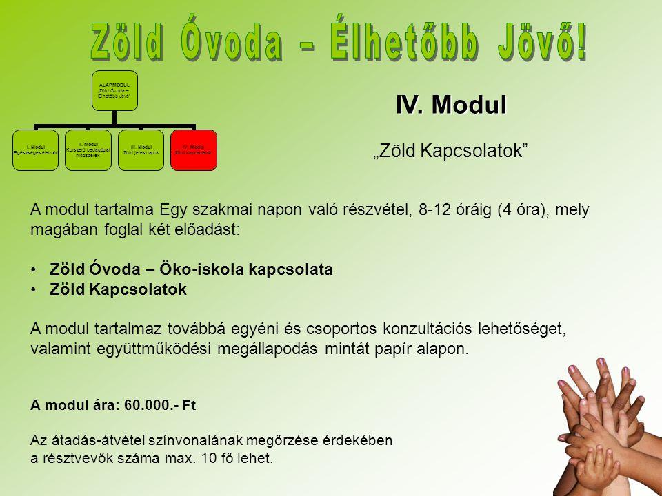 """IV. Modul """"Zöld Kapcsolatok"""