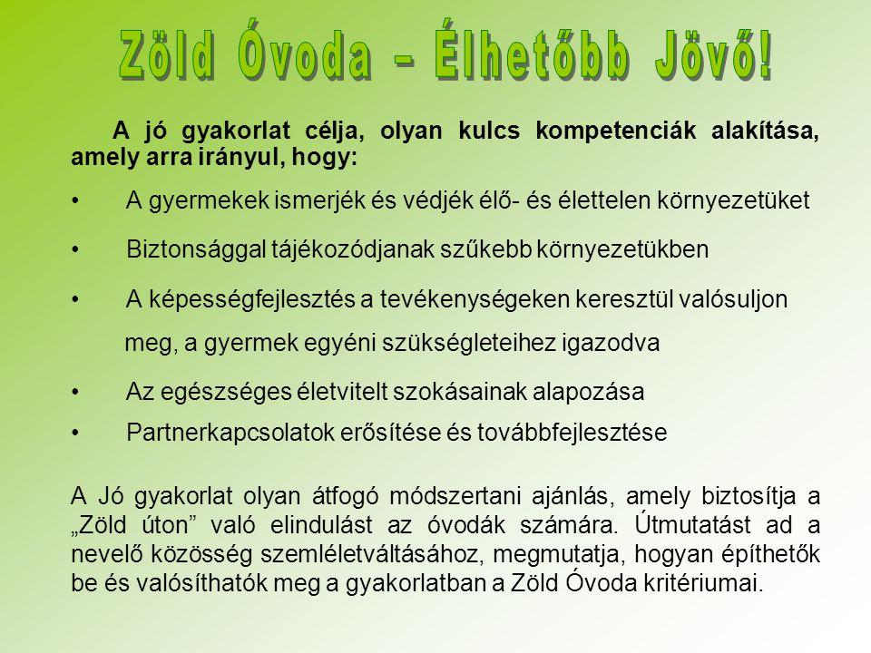 Zöld Óvoda – Élhetőbb Jövő!