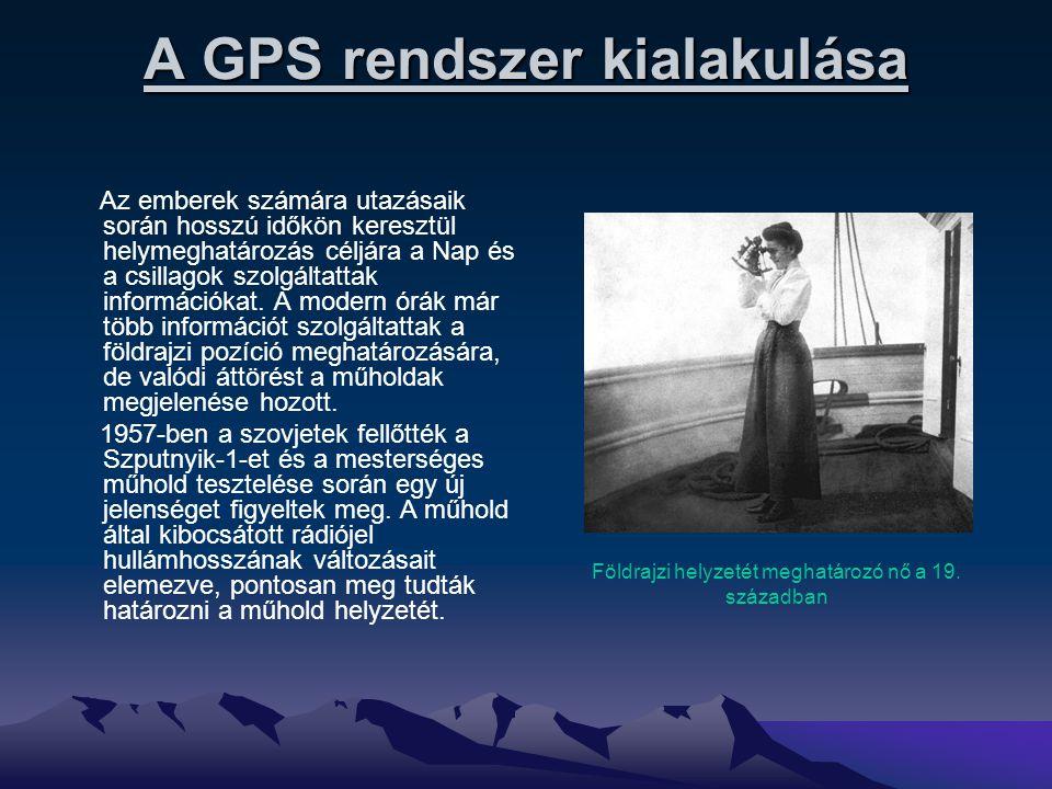 A GPS rendszer kialakulása