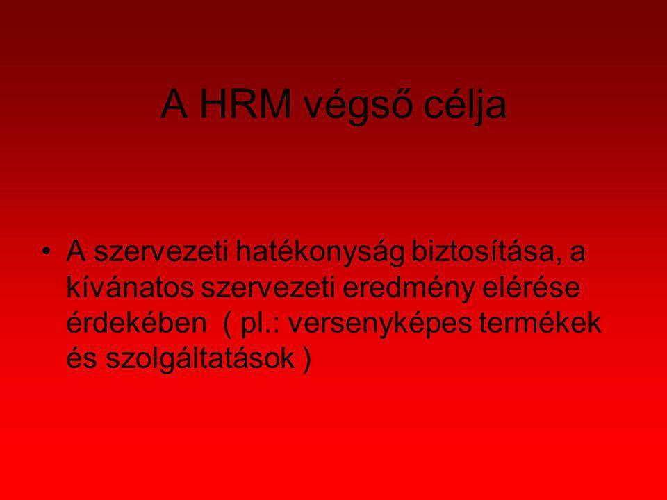 A HRM végső célja