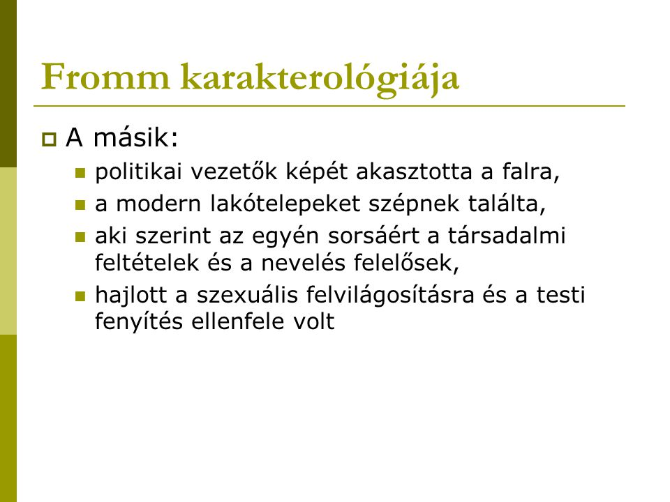 Fromm karakterológiája