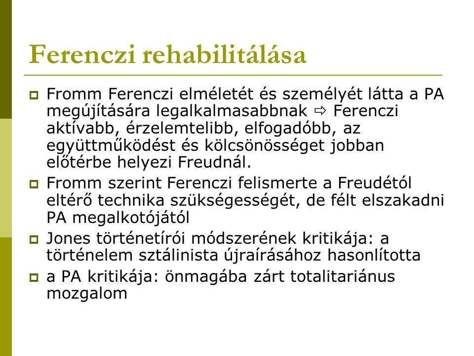Ferenczi rehabilitálása