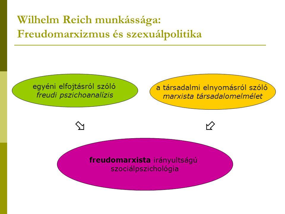 Wilhelm Reich munkássága: Freudomarxizmus és szexuálpolitika