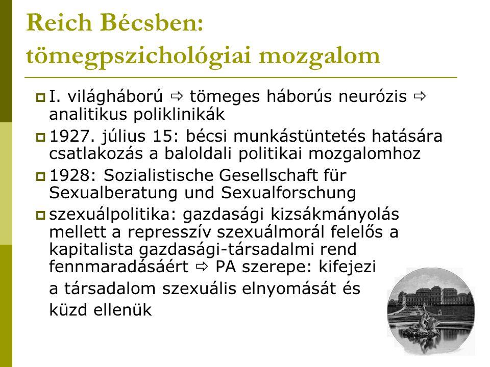 Reich Bécsben: tömegpszichológiai mozgalom
