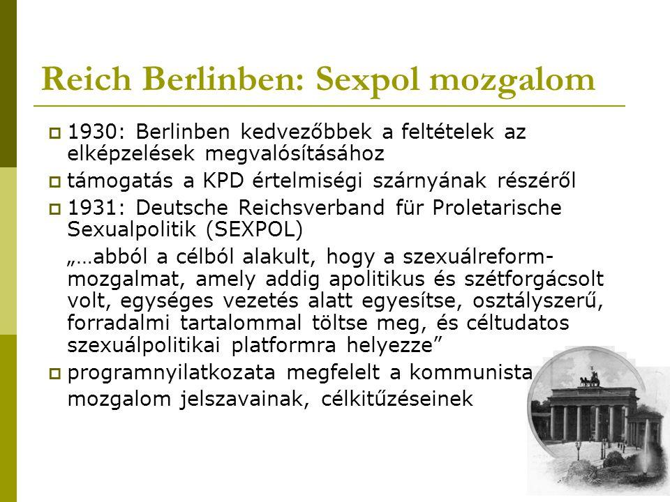 Reich Berlinben: Sexpol mozgalom
