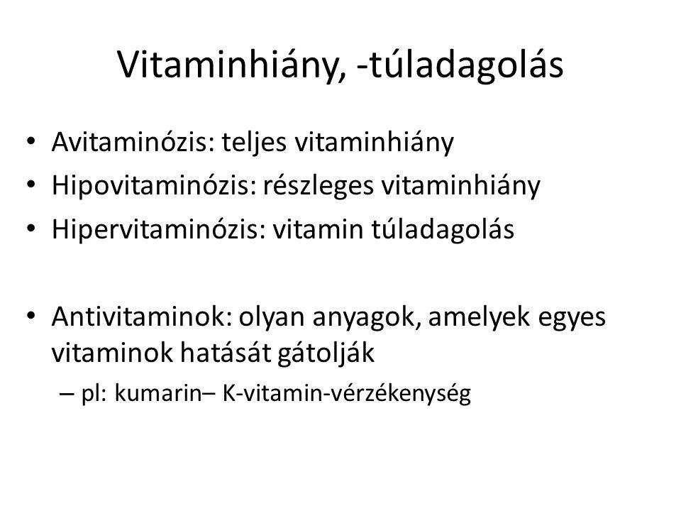 Vitaminhiány, -túladagolás