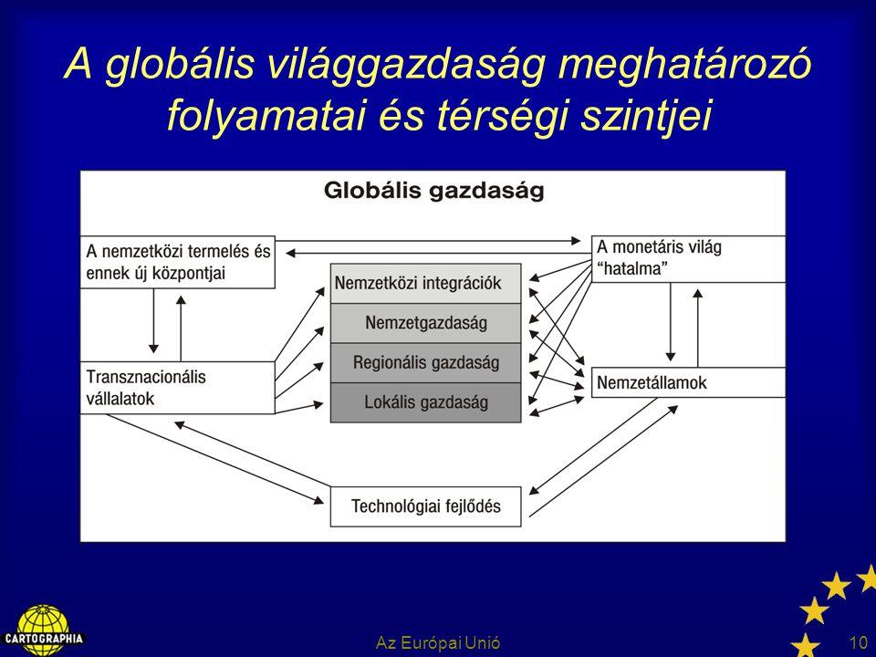 A globális világgazdaság meghatározó folyamatai és térségi szintjei