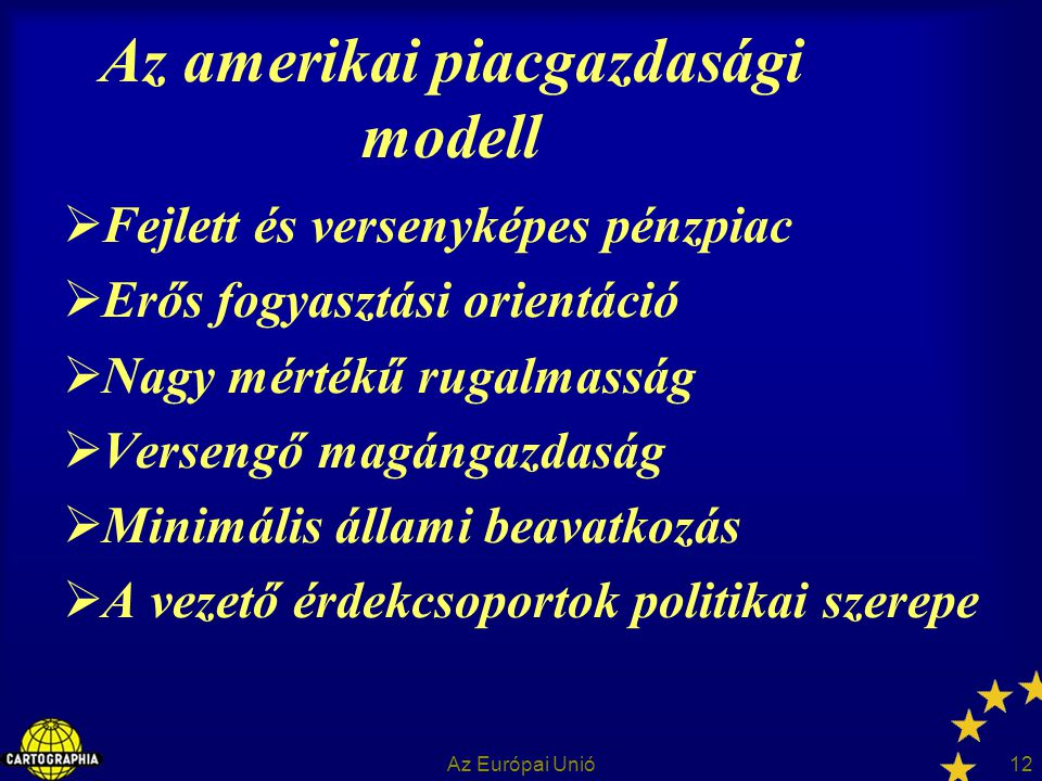 Az amerikai piacgazdasági modell