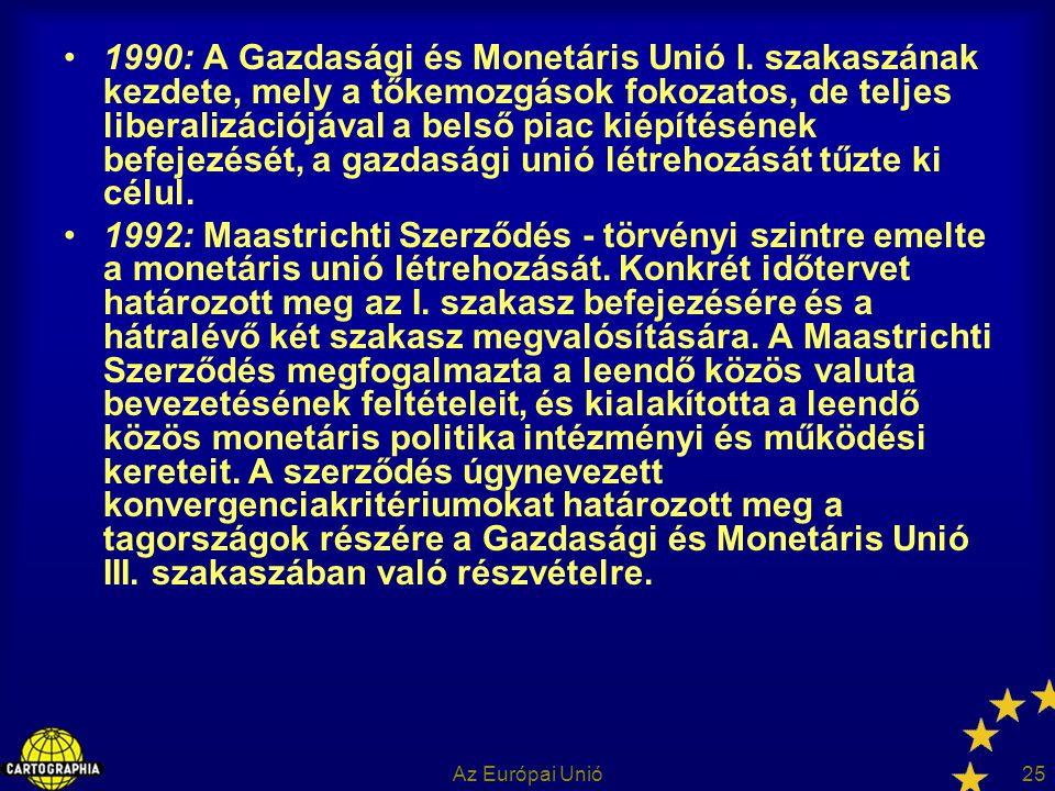 1990: A Gazdasági és Monetáris Unió I