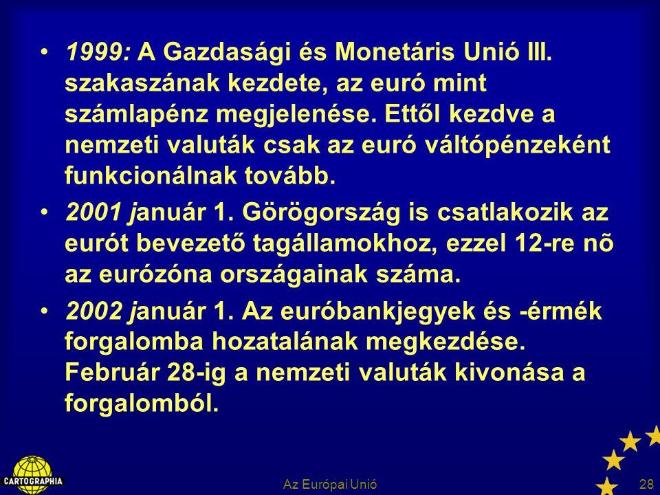1999: A Gazdasági és Monetáris Unió III