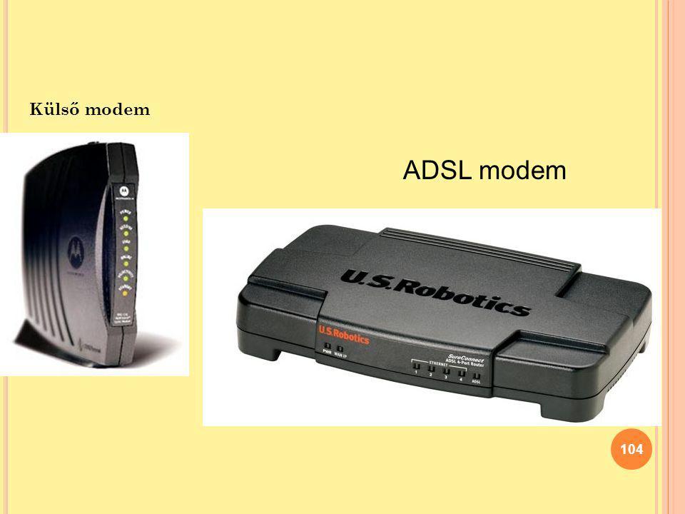 Külső modem ADSL modem