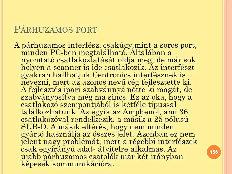 Párhuzamos port