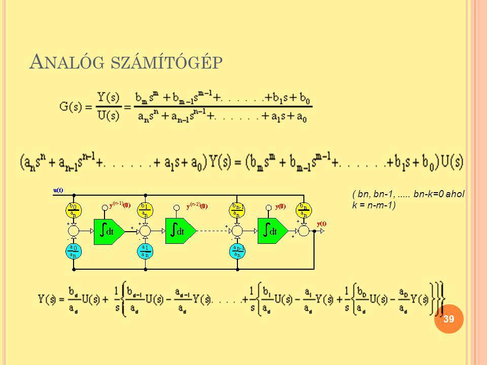 Analóg számítógép ( bn, bn-1, ..... bn-k=0 ahol k = n-m-1)
