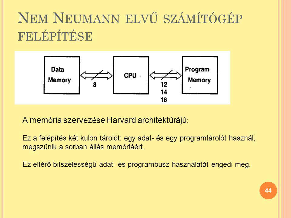 Nem Neumann elvű számítógép felépítése