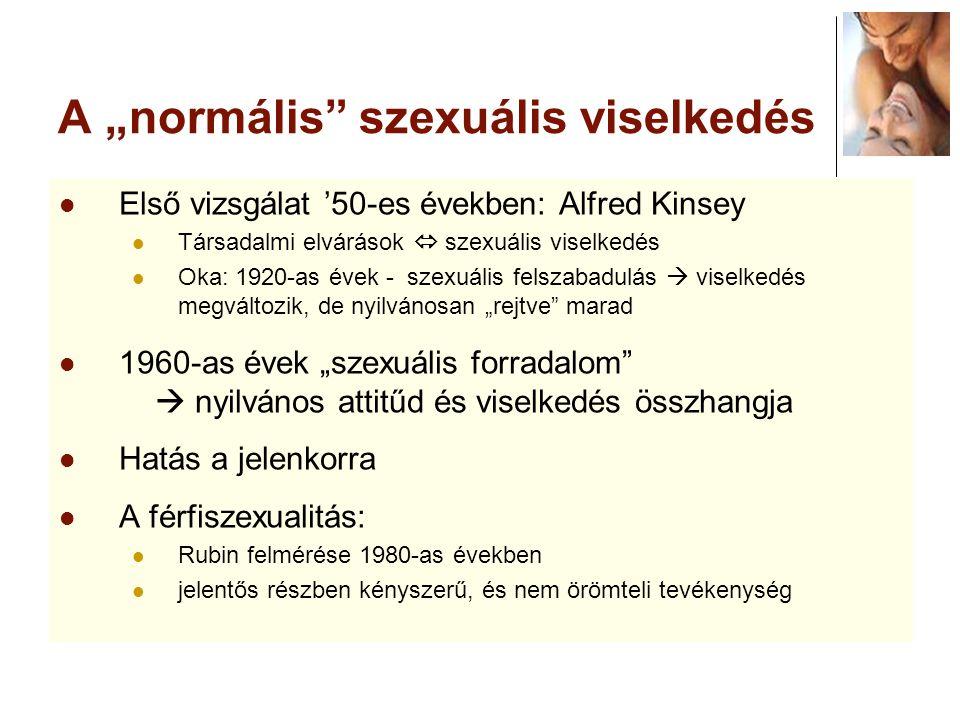 """A """"normális szexuális viselkedés"""