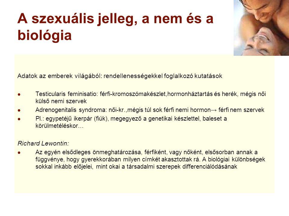 A szexuális jelleg, a nem és a biológia