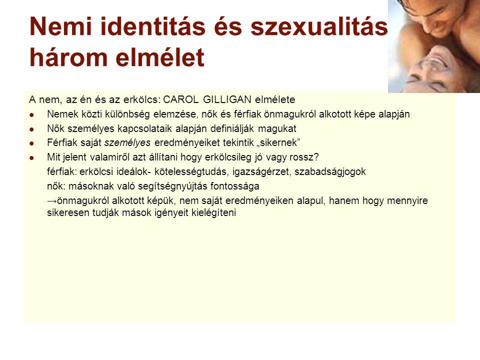 Nemi identitás és szexualitás: három elmélet