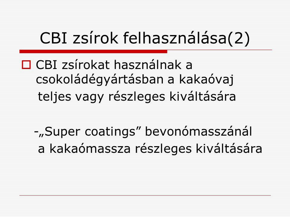 CBI zsírok felhasználása(2)