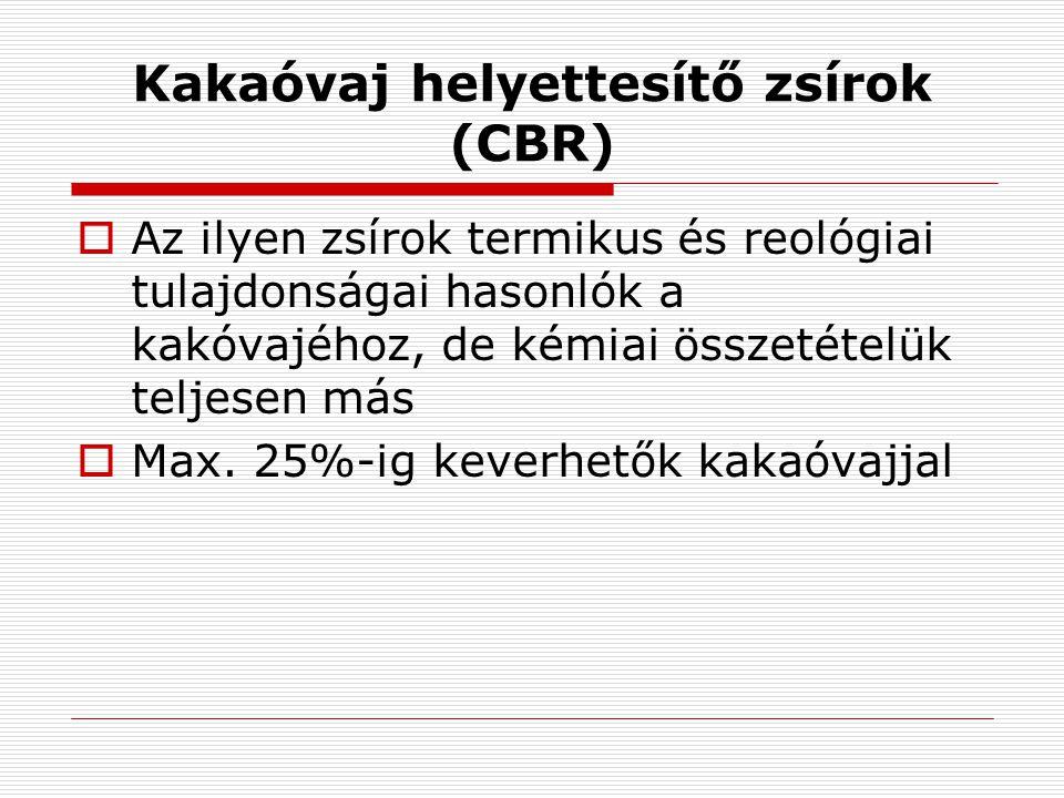 Kakaóvaj helyettesítő zsírok (CBR)