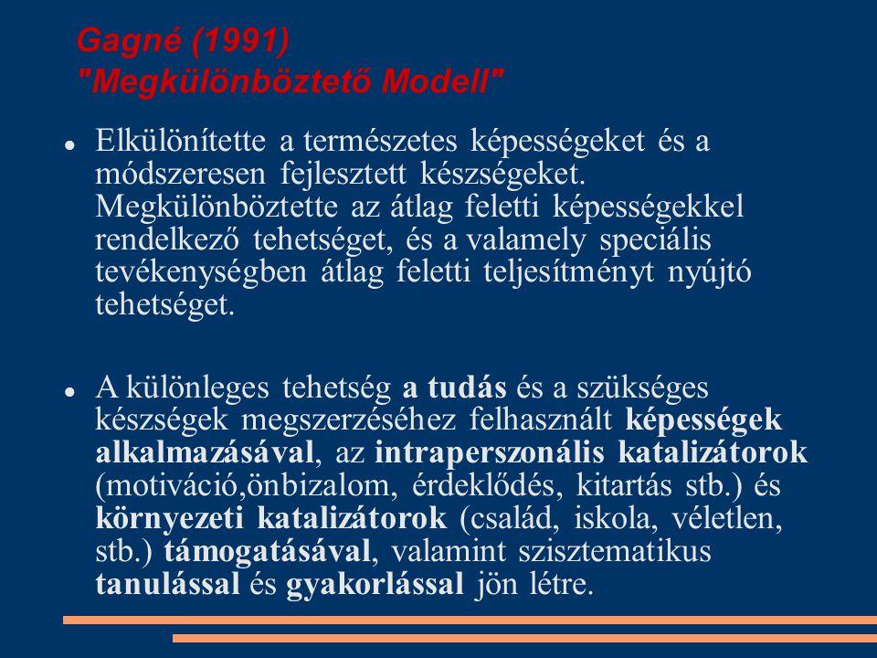 Gagné (1991) Megkülönböztető Modell