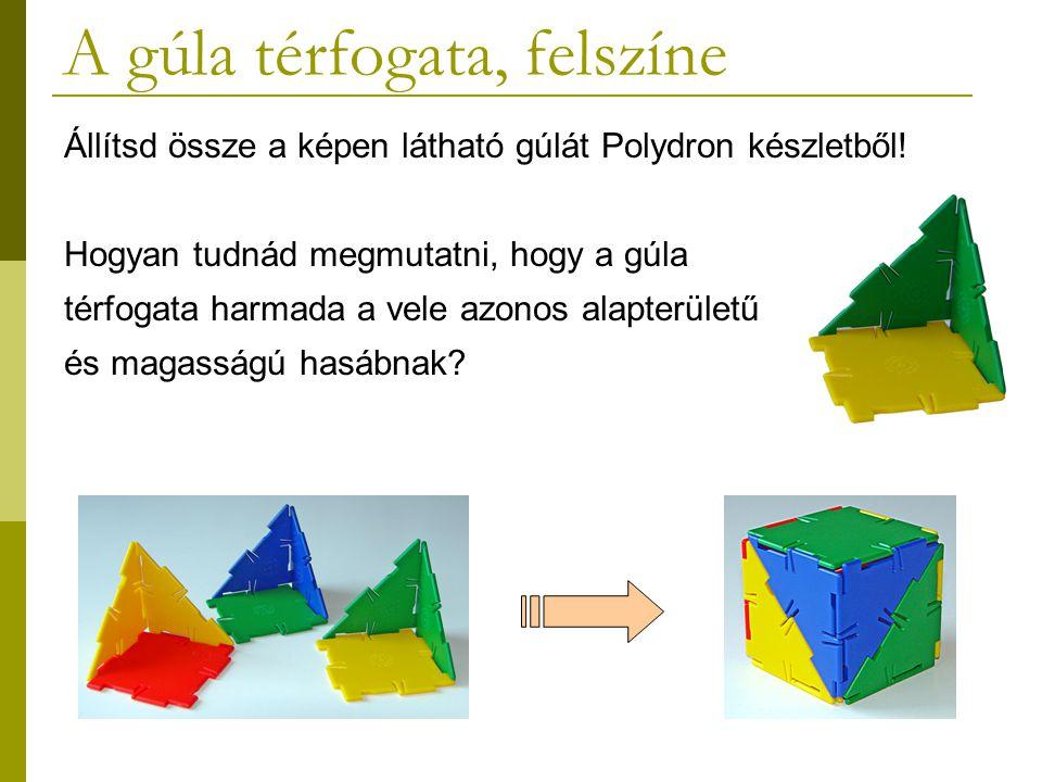 A gúla térfogata, felszíne