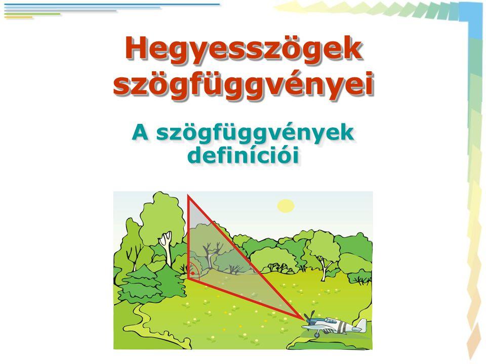 Hegyesszögek szögfüggvényei