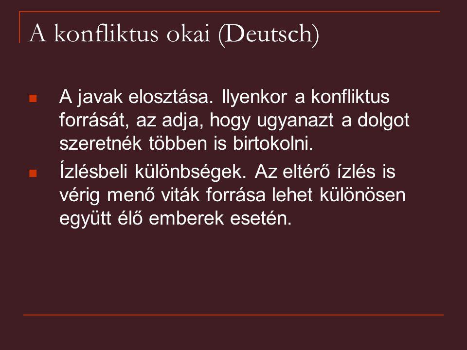 A konfliktus okai (Deutsch)