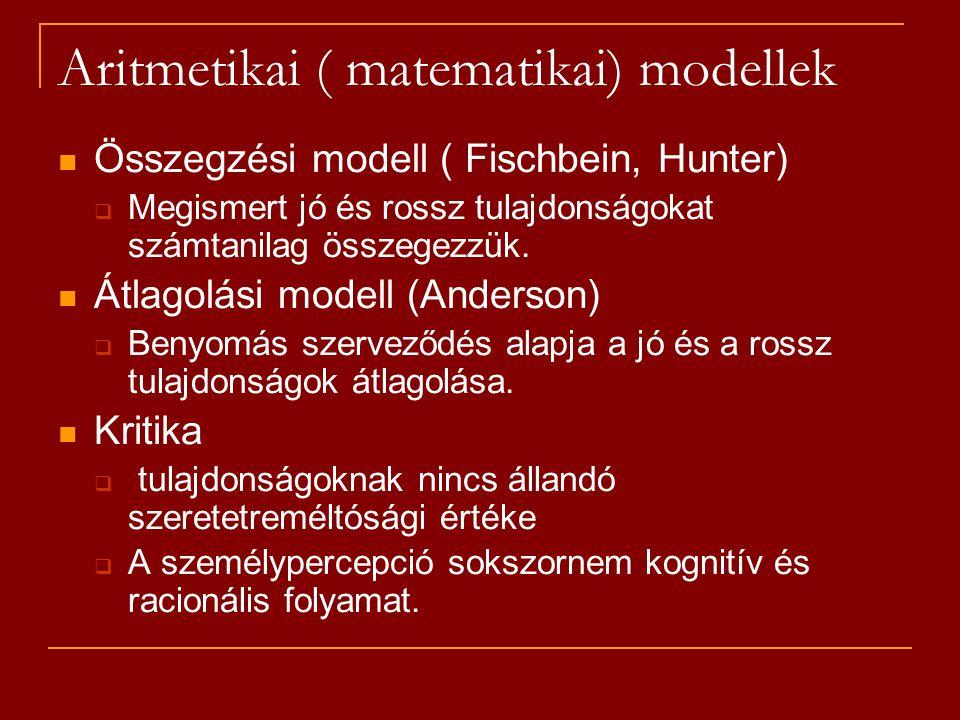 Aritmetikai ( matematikai) modellek