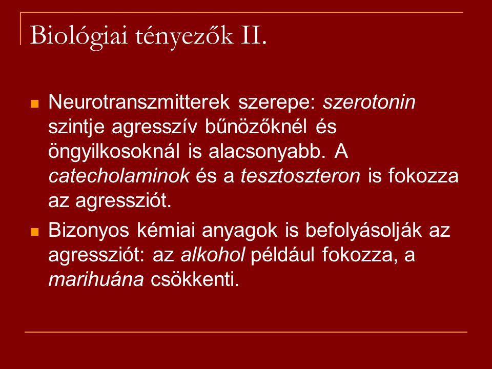 Biológiai tényezők II.
