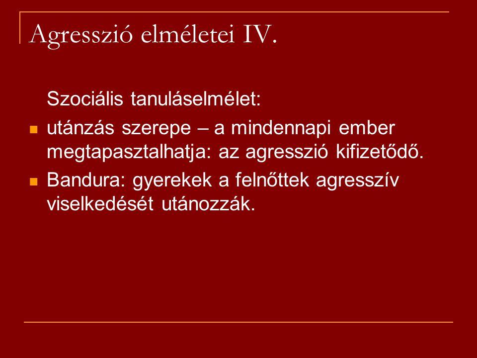 Agresszió elméletei IV.