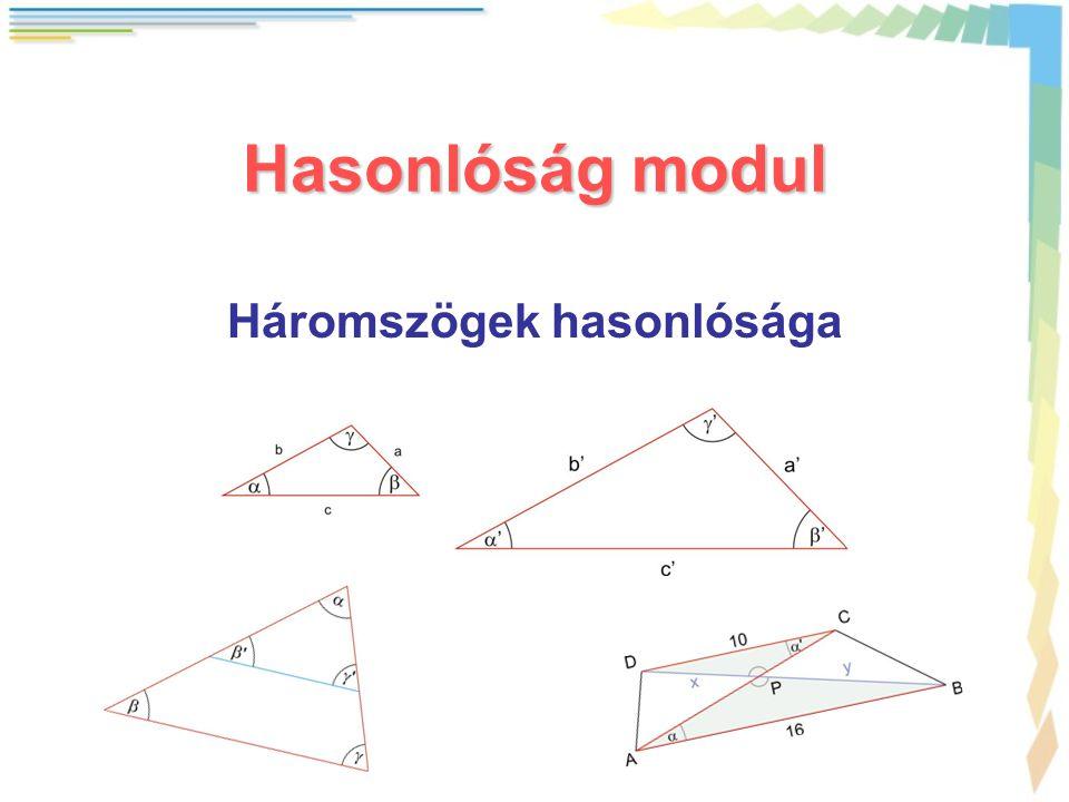 Háromszögek hasonlósága