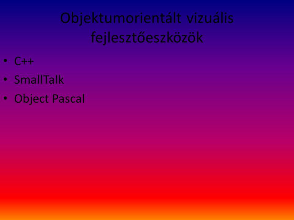 Objektumorientált vizuális fejlesztőeszközök