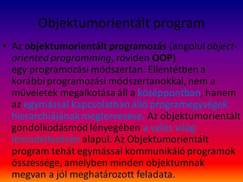 Objektumorientált program