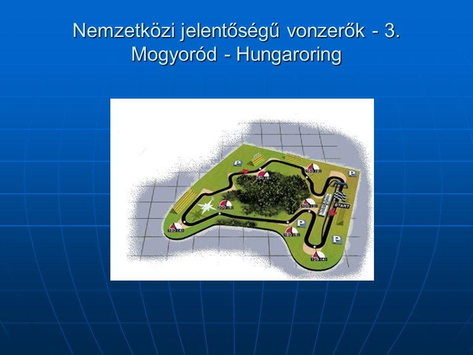 Nemzetközi jelentőségű vonzerők - 3. Mogyoród - Hungaroring