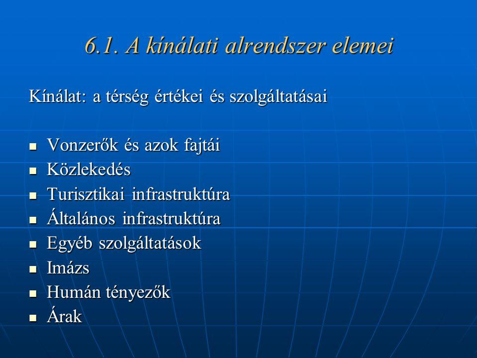 6.1. A kínálati alrendszer elemei