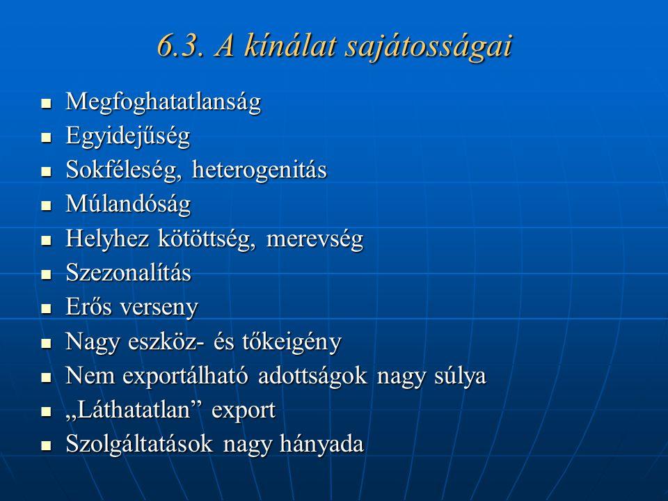 6.3. A kínálat sajátosságai