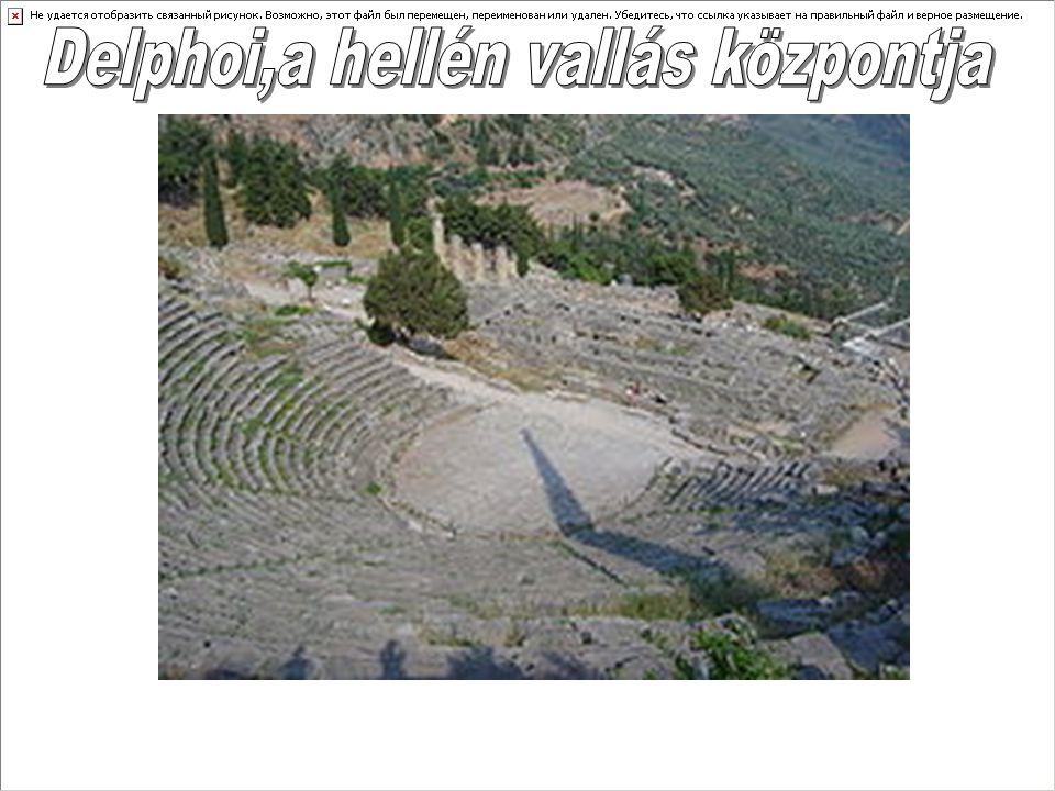 Delphoi,a hellén vallás központja