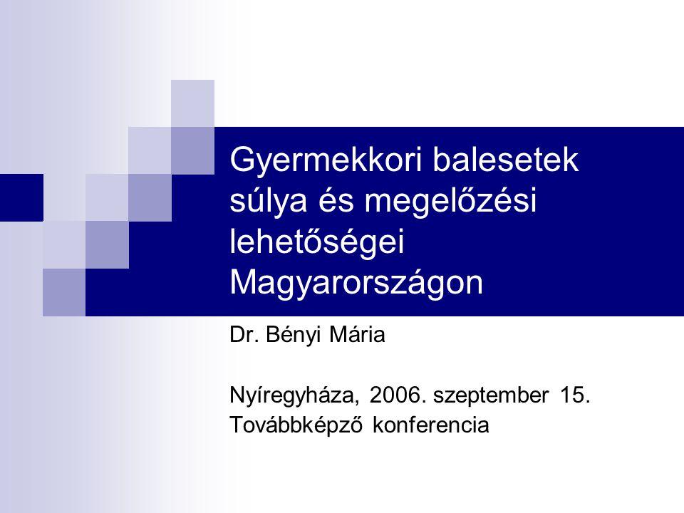 Gyermekkori balesetek súlya és megelőzési lehetőségei Magyarországon