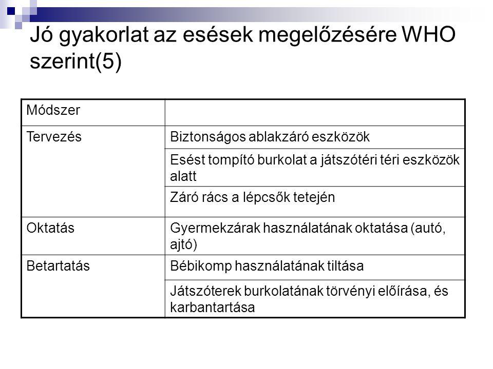Jó gyakorlat az esések megelőzésére WHO szerint(5)